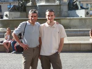 avec l'ami David