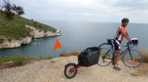 Robert au dessus de l'Adriatique...que des vues superbes!