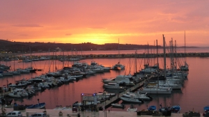Coucher de soleil sur  le portBde arletta