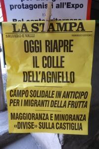 Article de la Stempa annonçant l'ouverture du Passo di Agnelo
