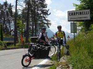 Au sommet du Passo Carpinelli