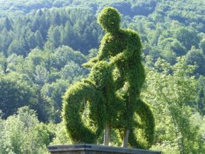 Un cycliste vert et Ecolo