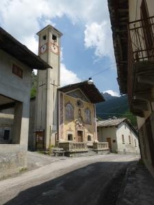 Eglise peinte de Pontechianale